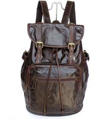 Delton Bags Tmavě hnědý batoh VT Retro J3-9-2043