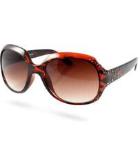 EverShade Hnědé dámské sluneční brýle Cats se zirkony J4-7-1907