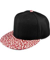 Crown Caps Snapback kšiltovka Leopard růžová M5-5-2118