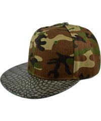 Crown Caps Maskáčová snapback kšiltovka Aligátor L5-6-2102