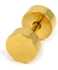 Trendhim Zlatý falešný plug do ucha 4 mm E1-7-1175