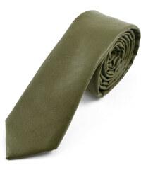 Trendhim Zelená kožená kravata Army AA3-2-3894