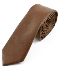 Trendhim Hnědá kožená kravata Camel AA3-4-3897