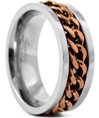 Trendhim Titanový prsten Brown chain E3-2-4076