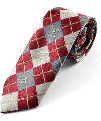 Trendhim Hedvábná kostkovaná kravata U5-3-4247