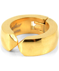Trendhim Klasická zlatá clip on náušnice Q6-7-4254