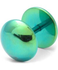 Trendhim Zelený falešný plug do ucha 8 mm L8-2-4367