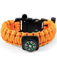 Trendhim Oranžový Paracord náramek s kompasem F3-2-4342