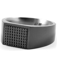 Trendhim Černý titanový prsten N7-2-4465