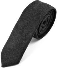 Trendhim Ručně zhotovená tmavě šedá kravata T1-2-6929
