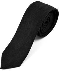 Trendhim Ručně zhotovená černá kravata T1-1-4934