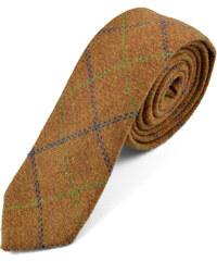 Trendhim Hnědá, ručně zhotovená kravata T1-1-6313