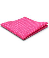 Trendhim Růžový bavlněný kapesníček s puntíky T7-1-5095