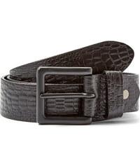 Trendhim Černý pásek s hadím vzorem LP2013027-1 black leather belt with snake details