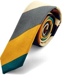 Trendhim Vícebarevná pruhovaná kravata AA6-3-5138
