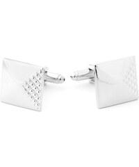 Trendhim Stříbrné manžetové knoflíčky s diamantovým efektem R11-1-6798