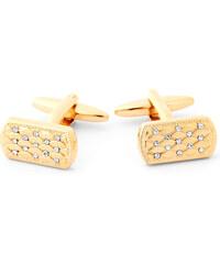 Trendhim Zlaté manžetové knoflíčky se zirkony F1-3-7033