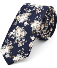 Trendhim Modro-bílá květinová kravata Q11-6-5214