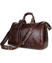 Delton Bags Stylová hnědá kožená brašna T8-5-6102