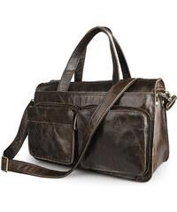 Delton Bags Vintage černá kožená brašna U9-8-6122