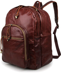 Delton Bags Kompaktní mahagonový kožený batoh V6-5-5482