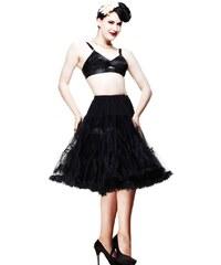 """Spodnička černá 26"""" - pod kolena, luxusní provedení, maximální objem"""