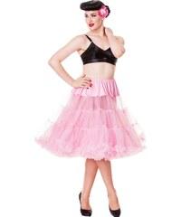 """Spodnička růžová 26"""" - pod kolena, luxusní provedení, maximální objem"""