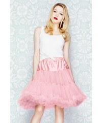 """Spodnička růžová 23"""" - pod kolena, luxusní provedení, maximální objem"""