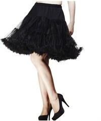 """Spodnička černá 23"""" - nad kolena, luxusní provedení, maximální objem"""