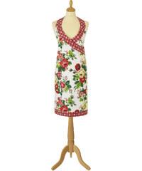 Retro kuchyňská zástěra dámská ALICE s potiskem květin