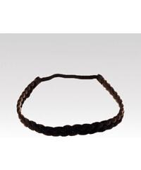 Wayfarer dámská čelenka pletený cop tmavě hnědý