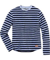 RAINBOW Sweat-shirt jersey velours Slim Fit bleu manches longues homme - bonprix