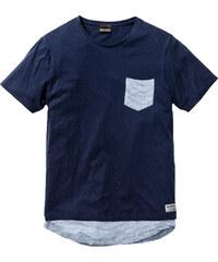 RAINBOW T-shirt long Slim Fit bleu manches courtes homme - bonprix