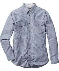 RAINBOW Langarmhemd Slim Fit in blau von bonprix