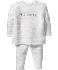 bpc bonprix collection Baby Sweatshirt + Sweathose mit Struktur (2-tlg. Set) in weiß für Damen von bonprix