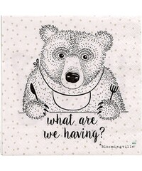 Bloomingville Papírové ubrousky Bear