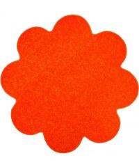 Květinový koberec Eton oranžový, Rozměry 120x120 kruh Vopi