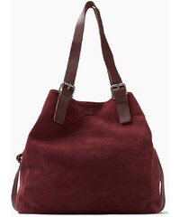 Esprit Velká nákupní taška z měkkého semiše