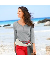 Outdoor collection Blancheporte Tee-shirt col tunisien manches 3/4