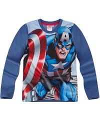 Avengers Assemble Langarmshirt blau in Größe 116 für Jungen aus Vorderseite: 100% polyester Ärmel: 100% Baumwolle