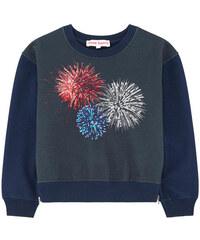 Anne Kurris Sweatshirt mit Pailletten und Motiv Zip Fire