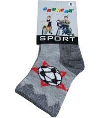 Sport Little Football Socks šedá 0-1 rok