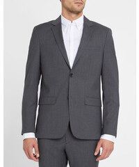 Calvin Klein Wolljacke Slim Fit in Grau