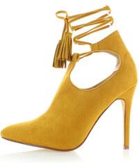 Ideal Žluté kotníkové kozačky Trompka