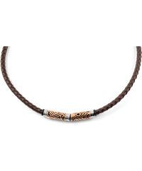 Trendhim Kožený náhrdelník Rose Gold H6-6-8922
