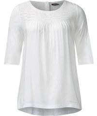 Street One Shirt mit Spitze Alma - weiß, Damen