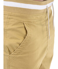 OMBRE Chino-Shorts mit elastischem Bund - Beige - S