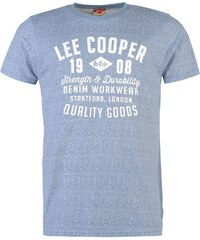 Lee cooper Tshirt pánské Vintage Blue