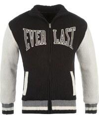 Firetrap Contrast Lined Knit Sweater Mens Black/Cream