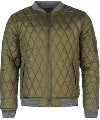 Zimní Prošívaná bunda pánská Lee Cooper Quiltee Khaki